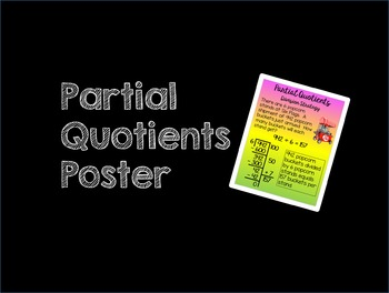 Partial Quotients (Big 7) Poster