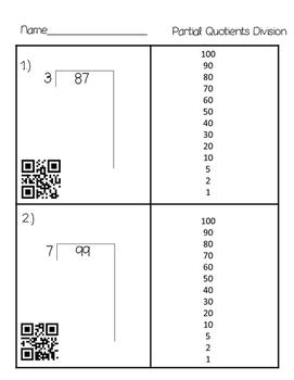 Partial Quotients QR Codes