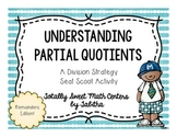 Partial Quotients- a Division Strategy Seat Scoot Activity Remainders Edition!