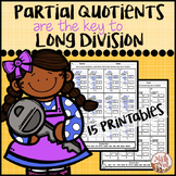 Division Worksheets: Partial Quotients