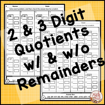 Division Worksheets: Partial Quotients