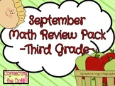 PARTIAL September Third Grade Math Review Packet