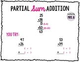 Partial Sum Addition FREEBIE!