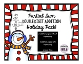 Partial Sum Double Digit Addition Holiday Pack!