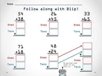 Partial Sums Addition Strategy with Blip PPT