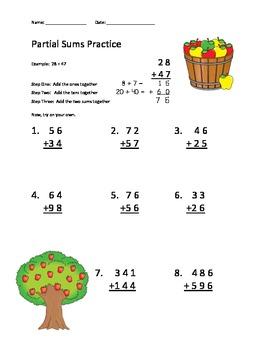 Partial Sums Practice