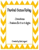 Partial Sums Relay