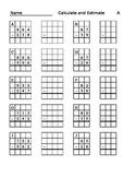 Partial Sums, Subtraction, & Estimation Worksheets