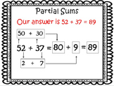 Partial Sums and Differences, AKA Break Apart and Place Va
