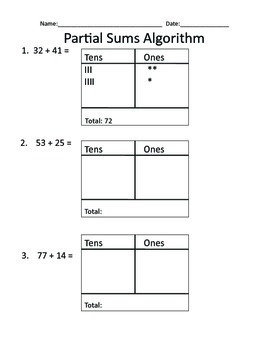 Partial Sums with Base-Ten Hot Chocolate Activity