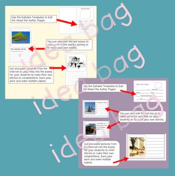Partially Editable Blank Story Book Templates Bundle 1