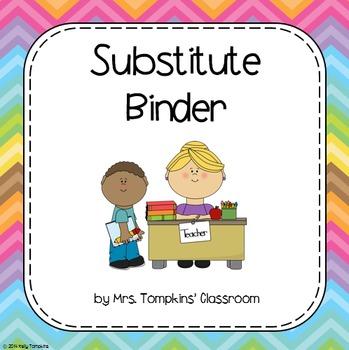 Substitute Teacher Binder