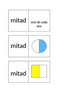 Partiendo enteros en fracciones: mitades y cuartos