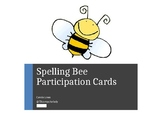 Participant Cards for Spelling Bees