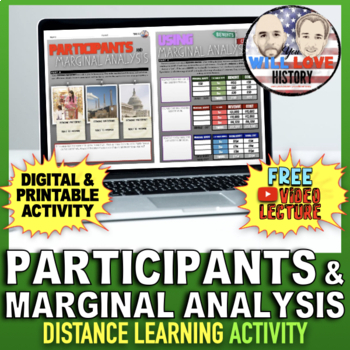 Participants and Marginal Analysis Activity