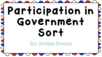 Participating in Government Sort
