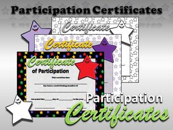 Participation Certificates - Stars Theme - King Virtue