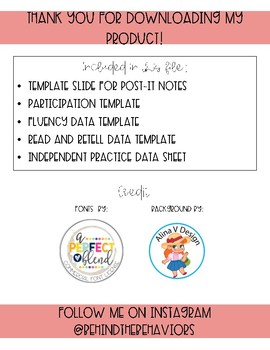 Small Group Data Sheets