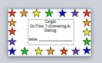 Participation Incentive Cards