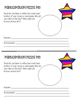 Participation Pie - Kagan Strategy FREEBIE!