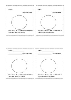 Participation Pie for ANY Group Activity