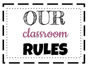 FREE! Classroom Rules Winter Theme (Music or General)