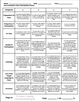Participation System for World Language Classes