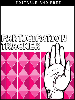 Participation Tracker: Free and Editable