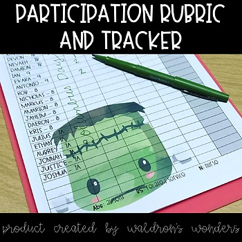 Participation rubric and tracking sheet
