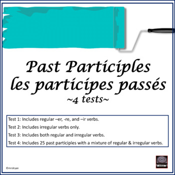 Participes passés – Past participles – tests