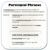 Participial Phrases Writer's Notebook Entry