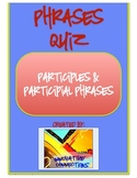 Participles and Participial Phrases Printable with Answer Key
