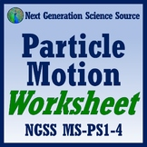 Particle Motion Worksheet for Middle School NGSS MS-PS1-4 (Thermal Energy, Heat)