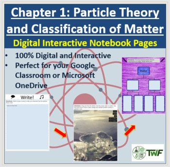 Particle Theory and Matter Classification - Digital Interactive Notebook Pages