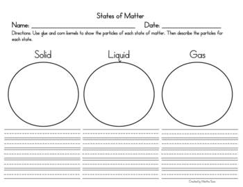 Particles in the 3 States of Matter