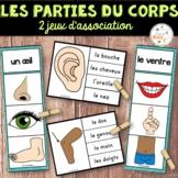 Parties du corps - 2 jeux d'association - Ensemble - French Body Parts