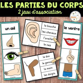 Parties du corps - 2 jeux d'association - Ensemble - Frenc