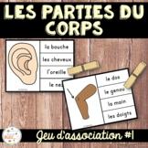 Parties du corps - Jeu d'association 1 - French Body Parts