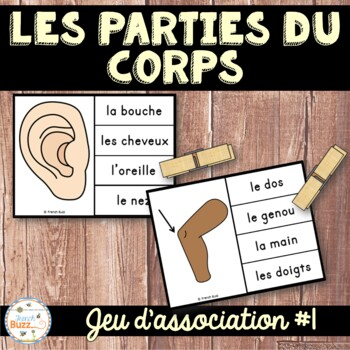 Parties du corps - Jeu d'association 1 - French Body Parts