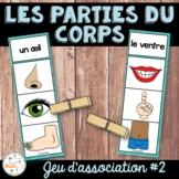 Parties du corps - Jeu d'association 2 - French Body Parts