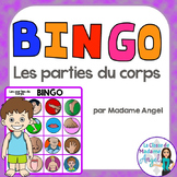 Parties du corps:  Parts of the Body Themed Bingo Game in French