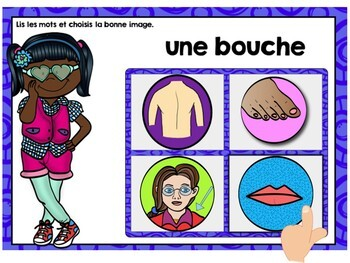Parties du corps (Parts of the Body) French Digital Task Cards BUNDLE - BOOM