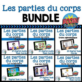 Parties du corps:  French Parts of the Body Digital Task Cards BUNDLE - BOOM
