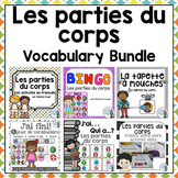 Parties du corps:  Parts of the Body Themed Vocabulary BUNDLE in French