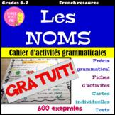 Parties du discours - les NOMS - Activités Grammaticales {