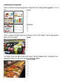 Nourriture (Food in French) Partitif worksheet