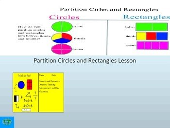 Fraction: Partition Circles and Rectangles Interactive Lesson