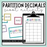 Partition Decimals Scoot Activity