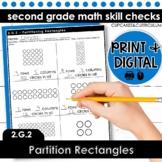 Partition Rectangles | Second Grade Math 2.G.2