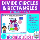 Partition Shapes Fractions Intro Google Slides 1st Grade Math Distance Learning